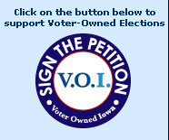 Click on this button to support Voter-Owned Elections